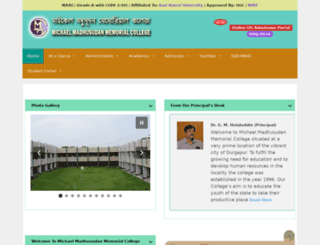 madhusudancollege.in screenshot