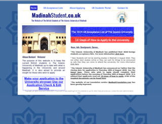 madinahstudent.co.uk screenshot