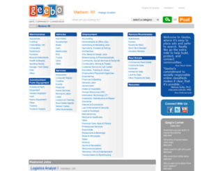 madison-wi.geebo.com screenshot