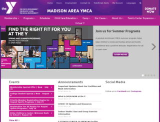 madisonareaymca.org screenshot