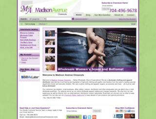 madisonavenuecloseouts.com screenshot