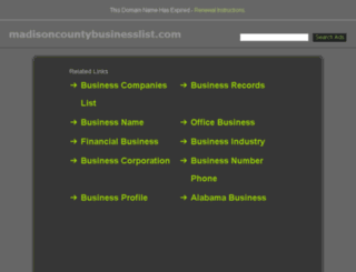 madisoncountybusinesslist.com screenshot