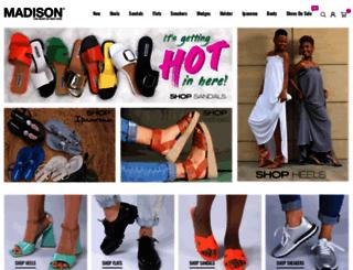 madisonfootwear.co.za screenshot