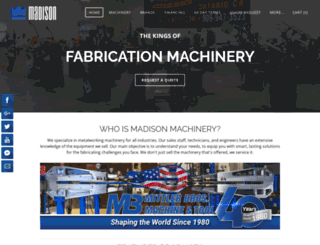 madisonmachinetool.com screenshot