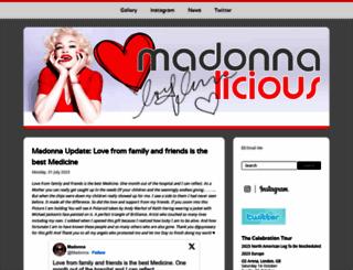 madonnalicious.com screenshot