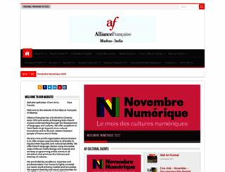 madras.afindia.org screenshot