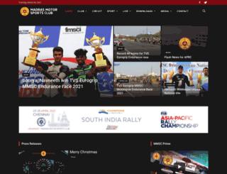 madrasmotorsports.in screenshot