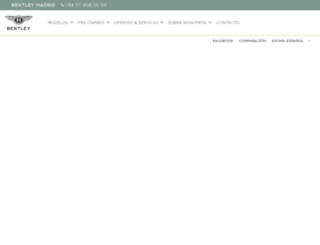 madrid.bentleymotors.com screenshot
