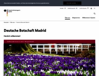 madrid.diplo.de screenshot