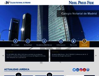 madrid.notariado.org screenshot