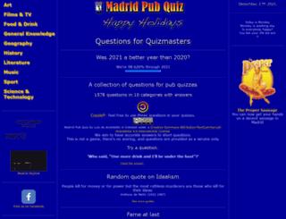 madridpubquiz.com screenshot
