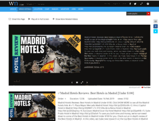 madridshotels.com screenshot