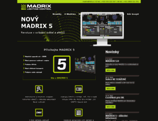 madrix.cz screenshot
