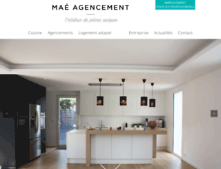 mae-agencement.fr screenshot