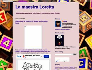maestraloretta.blogspot.it screenshot