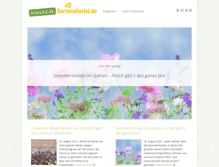 magazin.gartenallerlei.de screenshot