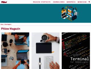 magazin.phlow.de screenshot