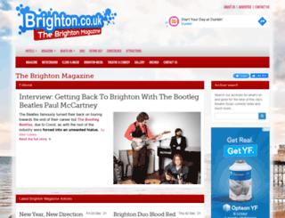 magazine.brighton.co.uk screenshot