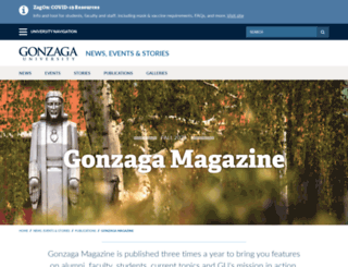 magazine.gonzaga.edu screenshot