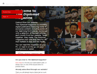 magazine.thediplomat.com screenshot