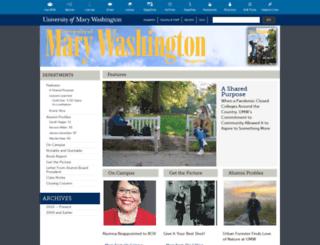 magazine.umw.edu screenshot