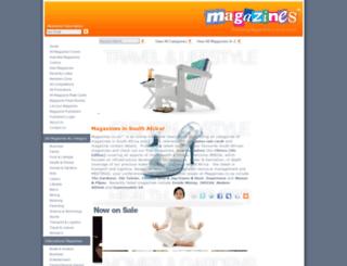 magazines.co.za screenshot