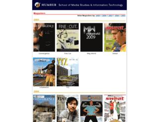 magazines.humber.ca screenshot