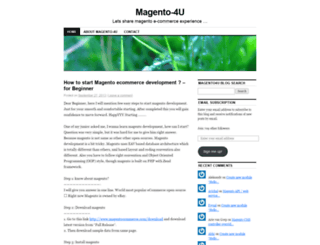 magento4u.wordpress.com screenshot