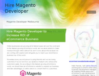 magentodeveloperforhire.wordpress.com screenshot