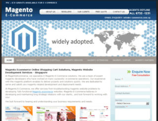 magentoecommerce.com.sg screenshot