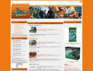 magic-guru.cz screenshot