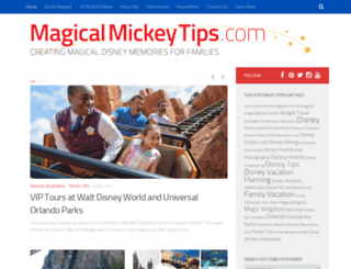 magicalmickeytips.com screenshot