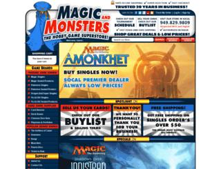 magicandmonsters.crystalcommerce.com screenshot