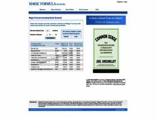 magicformulainvesting.com screenshot