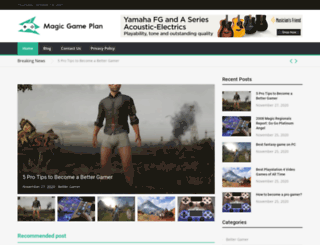 magicgameplan.com screenshot
