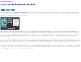 magicjackinstallation.com screenshot