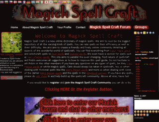 magickspellcraft.com screenshot