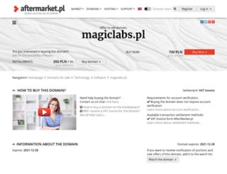 magiclabs.pl screenshot