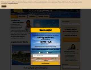 magiclife.reisedirekt.de screenshot