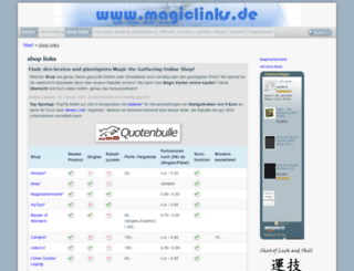 magiclinks.de screenshot