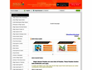 magicsquarepuzzles.com screenshot