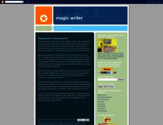 magicwriter.blogspot.com screenshot