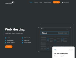 magikhosting.com.au screenshot