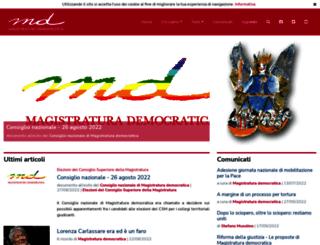magistraturademocratica.it screenshot