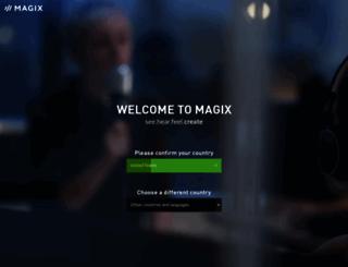 magix.com screenshot