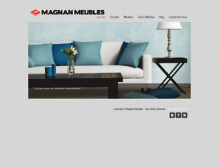 magnan-meubles.fr screenshot