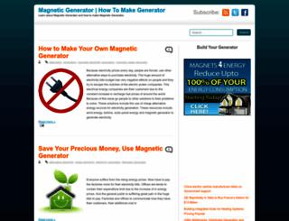 magnetic--generator.blogspot.com screenshot