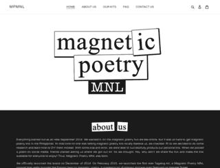 magneticpoetrymnl.com screenshot