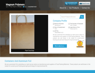 magnumpolymers.in screenshot