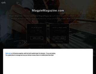 magpiemagazine.com screenshot